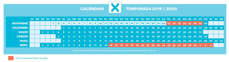 Calendari de Temporada 2019-2020